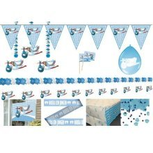 Party Package Celebrate Birth Of Th - Boy Baby Celebration Partyware 8 People -  boy birth baby celebration partyware package 8 people plates cups