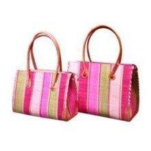 Madagascar Small Bb9 Strip Fara Raffia Handbag
