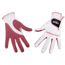 Professional High Quality Women Golf Gloves Golf Gift, White&Pink(#21)