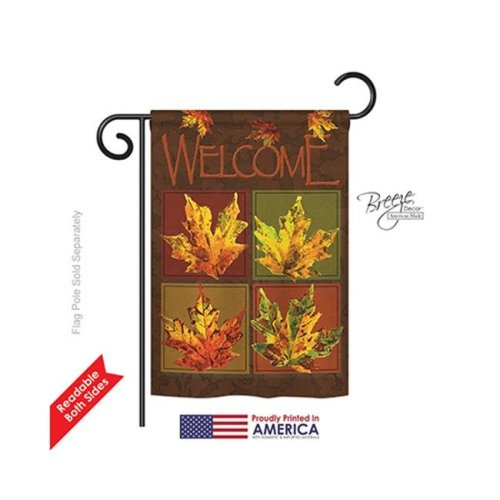Breeze Decor 63048 Harvest & Autumn Fall Leaves Collage 2-Sided Impression Garden Flag - 13 x 18.5 in.