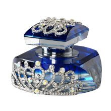 Car Perfume Crystal Car Air Freshener Perfume Bottle for Car Creative [Blue-5]