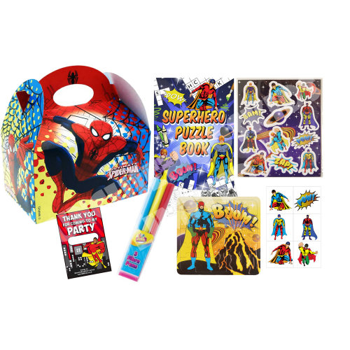 Pre Filled Spider-Man Superhero Party Box - Kids Parties Gifts Bags