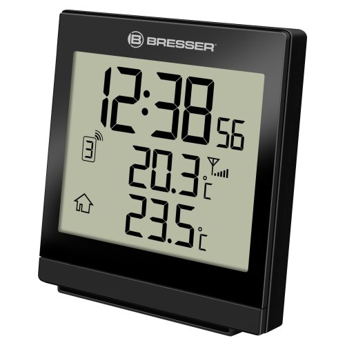 Bresser Wireless Temperature Station Weather Station Temeo SQ with outdoor sensor, black