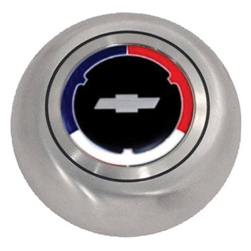 Grant 5643 Red, White & Blue Chrome Stainless Steel Horn Button for Cheverolet GM