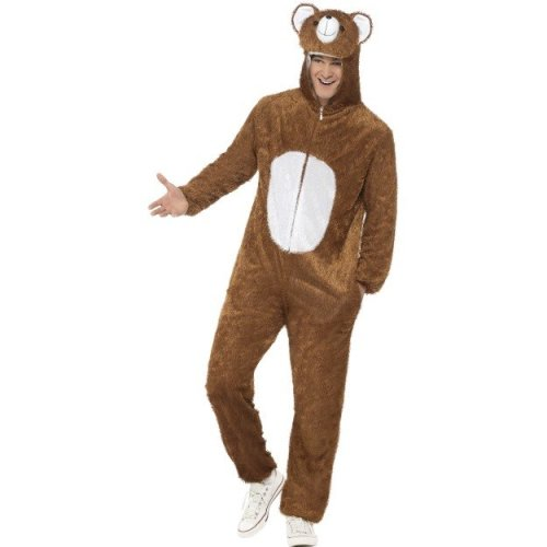 a32ef9400 Smiffy's Adult Unisex Bear Costume, Jumpsuit With Hood, Party Animals,  Serious - costume fancy dress bear animal ladies mens outfit adult zoo wild  on OnBuy