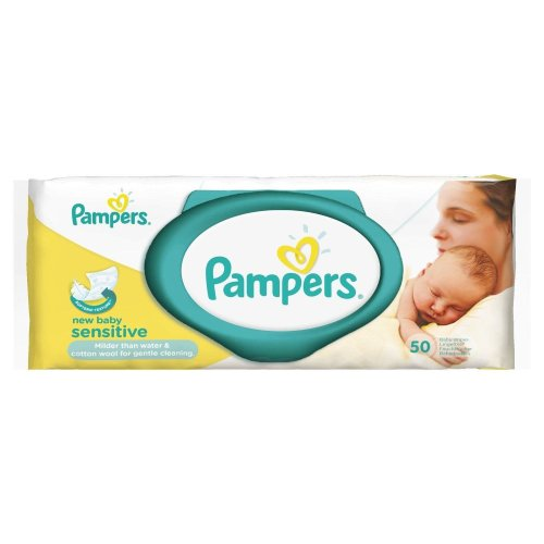 Pampers New Baby Sensitive Wipes - 50