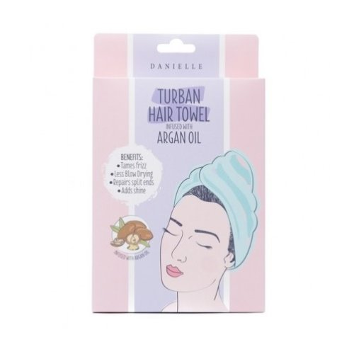 Danielle Beauty Finds Turban Hair Towel Infused with Argan Oil