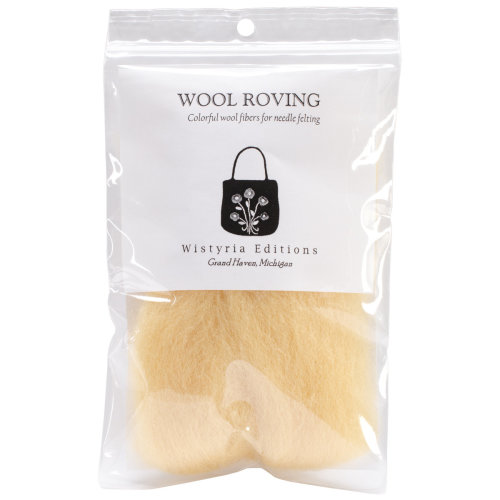 "Wistyria Editions Wool Roving 12"" .22oz-Honey"
