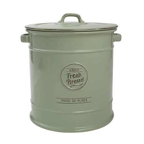 TG Pride of Place Bread Crock Bin Ceramic Green 18016