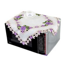 European Style Embroidered Microwave Oven Cover Microwave Protector, F