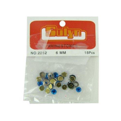 Kole Imports CN271-96 Blue Rhinestones with Mounts - Pack of 96
