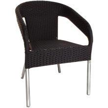 Jordan Garden Patio Chair Wicker Seat Set of 4