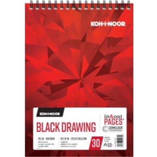Koh - I - Noor K26170221012 9 x 12 in. Black Drawing Paper
