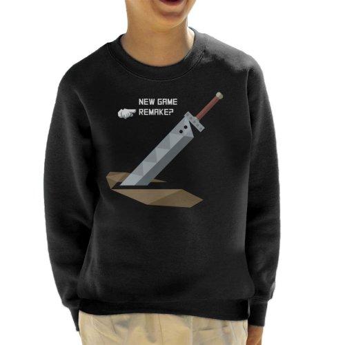 New Game Remake Final Fantasy VII Kid's Sweatshirt