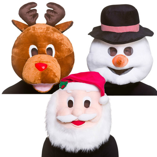 Christmas Mascot Head Mask