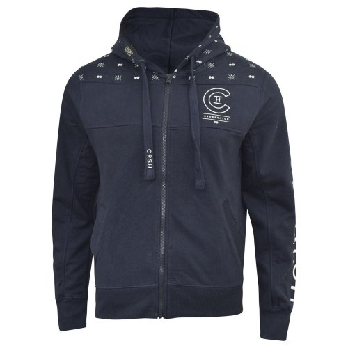 Mens crosshatch hoodie full zip zunite