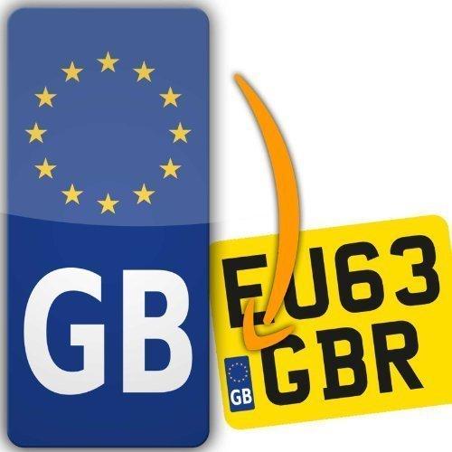 Euro Motorbike Motorcycle Number Plate Vinyl Sticker Europe road-legal (GB Euro)