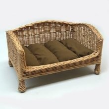 Willow Pet Bed Settee Large Dark Cushion