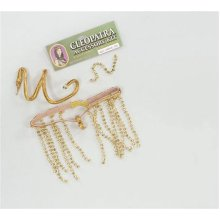 Gold Ladies Cleopatra Set -  cleopatra fancy dress egyptian accessory set gold armband snake ladies queen