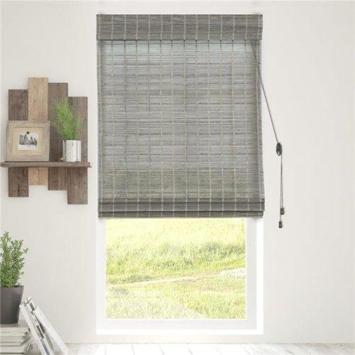 Chicology BRMK2364 Bamboo Roman Shades Wood Window Blind, Koala - 23 x 64 in.