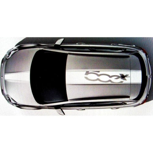 Fiat 500 X Genuine Roof & Bonnet White Decal Stripes Graphic Kit 50927499