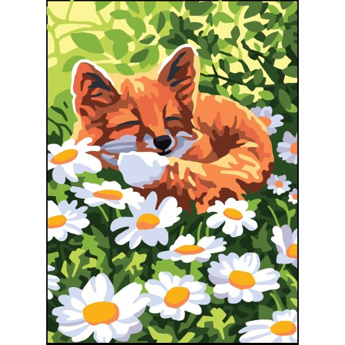 Collection D'art Needlepoint Printed Tapestry Canvas 22X30cm-Fox