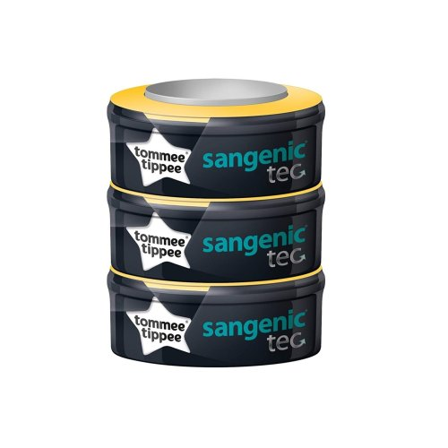 3pc Tommee Tippee Sangenic Tec Refill | 3 Tommee Tippee Sangenic Cassettes