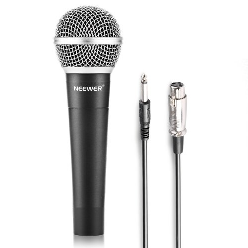 """Neewer® Zinc Alloy Black Professional Moving Coil Handheld Dynamic Microphone for Kareoke, Stage, Home Studio Recording, with 1/4"""" Male to XLR..."""