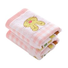 Set Of 2 Soft&Comfy Rabbit Baby Toewl Hand Towel 52x26cm [Pink]