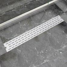 vidaXL Linear Shower Drain Line 830x140 mm Stainless Steel