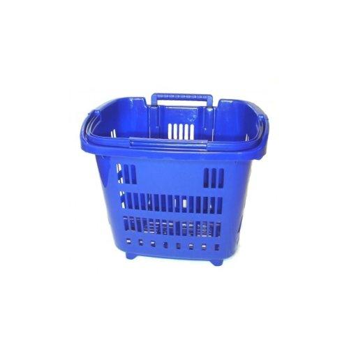 Rolling Shopping Basket - Blue | Plastic Shopping Basket