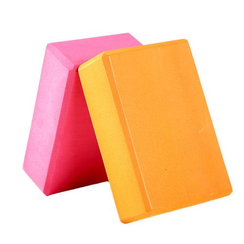 2PCS High-Density Yoga Block Blocks Brick Yoga Mat Accessory, Orange+Rose Red