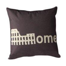 Cotton Linen Throw Cushion Cover And Inner Pillowcase 45*45cm Roman