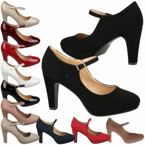 Emmeline Womens High Heel Classic Mary Jane Shoes