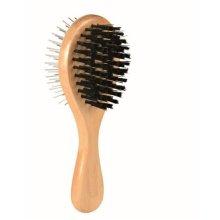 Wooden Brush, Double Sided, 6 � 17cm - 17cm Brush Sided x Trixie 5 -  17 cm brush double sided 6 wooden x trixie 5