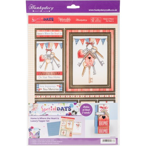 Hunkydory Special Days A4 Topper Set-Home Is Where The Heart Is