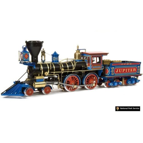 Occre Jupiter Locomotive Train Scale Model Wood and Metal Display Kit