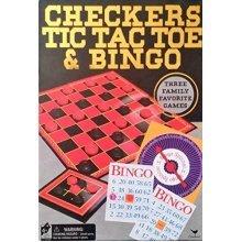 Cardinal 3 Game Pack, Checkers, Tic Tac Toe and Bingo