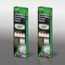16 x Adirondack Style Flexible Plastic Garden Border Edging Lawn Grass Edge Panel