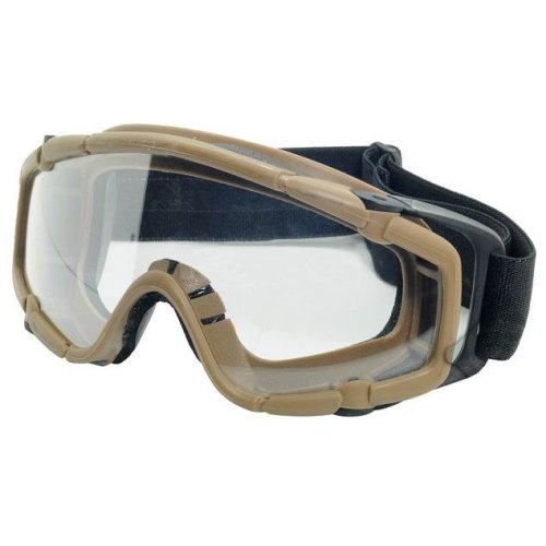 Airsoft Paintball Ops Core Jump  Clear Si Goggles Glasses Tan Sand De