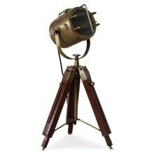 Redwood & Brass Tripod Lamp