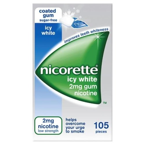 Nicorette Icy White 2mg Gum 105 Pieces