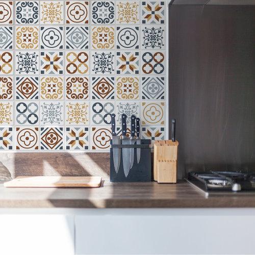 Walplus Tile Azulejo Tiles Wall Sticker Decal (Size: 10m x 10cm @ 24pcs)