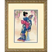 D06953 - Dimensions Counted X Stitch - Gold Petite, Elegant Geisha