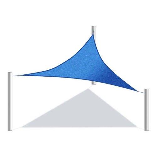 Aleko SS03TRI10X10X10BL-UNB 10 x 10 x 10 ft. Triangular Waterproof Sun Shade Sail Canopy Tent&, Blue