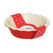 Sweet Heart Pie Baking Dish - Red
