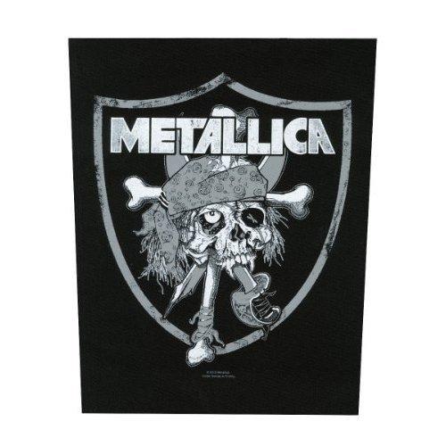 Metallica Backpatch Rückenaufnäher # 13 Raiders Logo - Raider Skull -  metallica raider skull backpatch