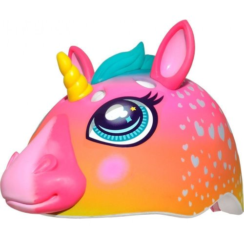 Raskullz Super Rainbow Unicorn Girls Scooter Skateboard EPS Bike Helmet 50-54cm