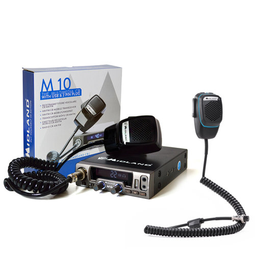 Bundle   CB Radio  Midland M10  + Smart Dual Mike with 4-pin Bluetooth