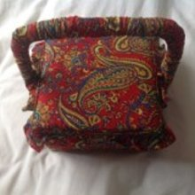 Paisley fabric Sewing Box 20x20x11cm